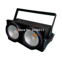 Wholesale Audience Lights - LED Multifunction Theater Light 2 Eyes 200w COB LED Blinder Stage Light DMX12 Warm white and cool White 2X100W Audience lights