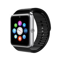 iwatch akıllı saat toptan satış-Akıllı Saatler iwatch iPhone Android Telefon için A8 + GT08 + Bluetooth Bağlantısı Sim Kart Push Mesajları ile Akıllı Elektronik Dropshipping