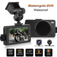 Wholesale 3 inch LCD Screen Dual Cameras Mini P Motorcycle DVR Camera Waterproof Video Recorder With G Sensor Motor Dash Camera