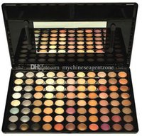 Wholesale eyeshadow palette mirror - DTC OEM Cosmetics 88 Colors Eyeshadow Palette #2 Makeup Powder Cosmetic Brush Kit Box With Mirror Women Beauty Tools Set Free shipping+Gift
