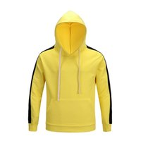 Wholesale couple winter pullover - Luxury fabric stitching sweater Hoodie Autumn and winter stitching saucer FEAR couple sweater hooded jacket nine colors