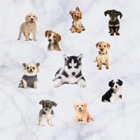 duvar resimleri karikatür hayvanlar toptan satış-PVC Su Geçirmez Duvar Sticker Resuable Çevre Dostu Duvar Resimleri Simülasyon Karikatür Hayvan Köpek Sanat Çıkarılabilir Çıkartmalar Sıcak Satış 9 5mt BB