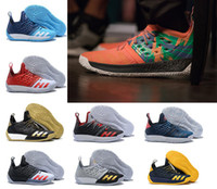 Wholesale James Shoe - High quality Harden Vol. 2 Men Basketball Shoes James Harden Vol. 2 Rocket Red White black blue Athletic trainers Sneakers US 7-12