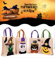 Wholesale pumpkin toys supplies for sale - 4 Styles Halloween Pumpkin Candy Bag Trick Treat Handbag Children Gift Tools Basket Craft Supplies Birthday Party Decoration Toy