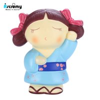 brinquedos macios japonês venda por atacado-Ascromy Squishy Estresse Brinquedos Squishies Macio Lento Rising Menina Japonesa 5.7 1 Peça Squishy kawaii menina Squishies lento levantando jumbo