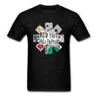 одежда в стиле рок-стиля оптовых-Red Hot Chili Peppers DOODLE футболка рок-группа старинные проблемные футболки 2017 новый летний стиль мода рок одежда Мужчины Женщины