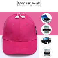 Wholesale good bluetooth speakers resale online - 2018 new Bluetooth music earphone hat outdoor baseball earphones cap wireless Bluetooth headset with speaker Colors good item