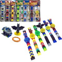 Wholesale Dc Toys - Super heroes DC Avengers Building blocks Original box Watch ninja Bricks kids watch Toys for christmas gift