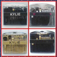 Wholesale Makeup Brushes 12 Pieces - HOT NEW Kylie cosmetics Brushes Set 12 pieces Makeup Tools Makeup Brushes 4 style Free shipping+GIFT