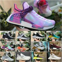 separation shoes 60c15 1c87f 2018 Top originales PW pharrell williams raza humana nmd TR zapatos hombres  mujeres nmds negro blanco gris rojo primeknit PK runner XR1 R1 R2 zapatillas