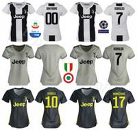 18 19 Season Juventus Women Jerseys RONALDO FC Lady Soccer DYBALA MANDZUKIC  MATUIDI BONUCCI PJANIC Football Shirt Kit Woman Grey White b16e63d11