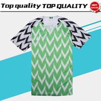 Wholesale men s green shirts - 2018 World Cup MIKEL Home Green white Soccer Jersey IWOBI soccer Shirt 2018 World Cup football uniform