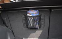 taschenbänder großhandel-Hilfreiche Autotasche Gepäckhalter Universal Autotasche Net Sitz Aufbewahrung Mesh Net Organizer Tasche Aufkleber Kofferraum Starke Magic Tape