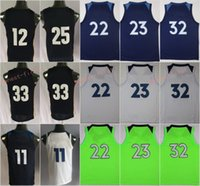 Wholesale Butler Jerseys - 2018 New Jerseys 23 Butler 32 Towns 22 Wiggins 11 Crawford 11 Conley 33 Gasol 25 Parsons Blue White Green Men's 100% Stitched