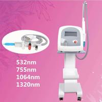 maquina laser para pigmento al por mayor-Picosegundo láser Nd Yag láser muñeca negra Tratamiento picosura láser corea Máquina de eliminación de tatuaje removedor de pecas pigmento Equipo