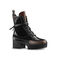 botas de couro mens tamanho 12 venda por atacado-Atacado Designer De Luxo Das Mulheres de Couro Caminhadas Sapatos bota de deserto Inverno Bota De Neve bota plataforma Botas de Trabalho Ao Ar Livre Lazer Ankle Boots