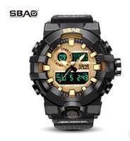 Wholesale daily watch - SBAO Brand LED Display Men Sport Watch Male Digital Wristwatch Stop Daily Alarm Boys Calendar Water Resistant Shock Resistant