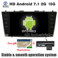 Wholesale toyota camry navigation screen - QZ industrial HD 9inch Android 7.1 T3 for Toyota Camry 40 Aurion 2006-2011 car dvd player with GPS WIFI 3G 4G Radio RDS navigation map