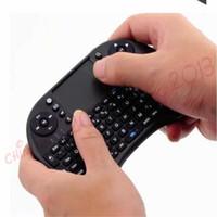 fs remoto al por mayor-2018 Teclado inalámbrico rii i8 teclados Fly Air Mouse Multi-Media Control remoto Touchpad Handheld para TV BOX Android Mini PC B-FS
