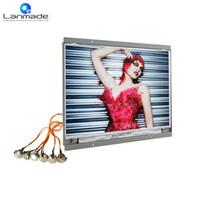 pantalla de 14 led al por mayor-Video de control de botón de 14 pulgadas led pantalla de visualización de publicidad lcd