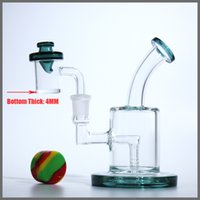 Wholesale Glass Bongs Free Shipping - glass oil rigs 5MM thickness Quartz banger nail thick glass bongs male joint 14.5MM bubbler dab rig free shipping