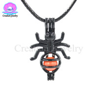 Wholesale necklaces scented pendant for sale - Group buy Spider Black Wish Luck Bead Cage Pendant Add Your Own Pearls Rock to Cage Add Perfume Essential Oils to Create a Scent Diffusing locket