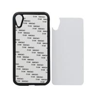 tpu sublimation iphone fall großhandel-Für iPhone XS XS MAX XR 2D Gummi Sublimation Telefon Fall Blank TPU + PC Handy Cover