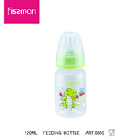 ingrosso bottoni di bottiglia-Fissman 120 ml BPA Free Cute Feeding Baby Bambini Bambini Maniglia in paglia d'acqua Baby Capezzolo in silicone Bere biberon