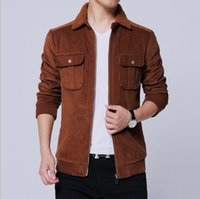 шубы из фарфора оптовых-China Style Mens Casual Corduroy Jacket Plus Size 4XL 5XL Turn-down Fur Collar Jackets and Coats With Cargo Pockets Men Outwear