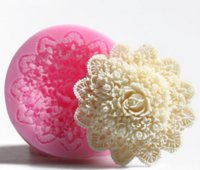 Wholesale Silicone Rose Cake Mold - 3D rose handmade soap silicone mold fondant cake chocolate candle moulds cake decorating mould confectionery tools