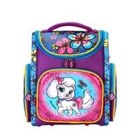 naylon su geçirmez katlanır çantalar toptan satış-Güzel Kız Sırt Çantası karikatür hayvan Su Geçirmez Naylon Ortopedik Okul Çantası Kızlar Çocuklar Için kat okul Çantaları 2018 YENI