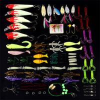 Wholesale bait suit resale online - Fake Fishing Lures Suit Quasi Bait Simulate All Swimmers Luya Baits Luminous Paillette Hard Fish Hooks Set xh ii