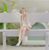 ingrosso ornamenti di fata dell'angelo-Bella ragazza Regali creativi Resina Angelo Ornamenti artificiali Home Decor Miniature Fiore Fata Figurine Decorazione di nozze