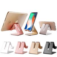 плюс таблетки оптовых-Универсальный алюминиевый металлический мобильный телефон планшет держатель настольная подставка для iPhone 7 Plus Samsung S8 plus ZTE Max XL с розничной упаковке OTH766