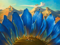 Wholesale fine art figure paintings for sale - Group buy Multi Custom Sizes Frame Available Vladimir Tretchikoff Handpainted HD Print The Mountains FINE Art Oil Painting On Canvas Ab233
