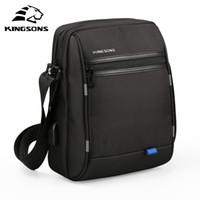 Wholesale waterproof tablet bags for sale - Group buy Kingsons New USB Charging Crossbody Bag Men Women Laptop Shoulder Messenger Bag Waterproof inch Tablet PC for Pad