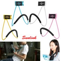 Wholesale Universal Holder Tool - mobile phone holder cell mount small gift hand tool 55cm length arm neck phone mount for iphone tablet holder up to 19cm width