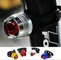 rote fahrradhelme großhandel-LED Wasserdicht Fahrrad Radfahren Vorne Hinten Schwanz Helm Rot Blitzlichter Sicherheitswarnlampe Radfahren Sicherheit Vorsicht Licht
