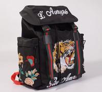 ingrosso borsa da viaggio scuola maschio-2018 moda vendita calda maschile femminile uomini di lusso da viaggio Tela ricamo con borsa zaino in vera pelle zaino studente sacchetto di scuola