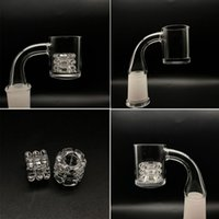 ingrosso tubi dell'acqua vetro diamante-2mm XL 4mm Thick Bottom Quartz Banger Nails With Diamond Insert 10mm 14mm 18.8mm 45 90 Degrees For Glass Water Pipes Rigs