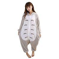 Wholesale Totoro Halloween Costume - Halloween Cosplay Children Unisex My Neighbor Totoro Animal Kigurumi Onesie Pajamas Costume