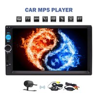Wholesale mp3 player speaker remote - In Dash Radio Receiver quot Touch Screen Display Bluetooth Car Stereo MP5 Player Head Unit Remote Control Wireless Rear View Camera Included