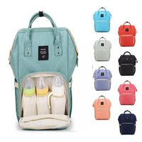 Wholesale plain diapers - 14 Colors Mommy Diaper Bags New Multifunctional Backpacks Fashion Mother Backpacks Maternity Backpacks Mommy Changing Bags CCA8930 10pcs