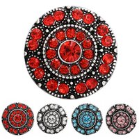 Wholesale 12 pieces colors fashion rhinestone mm Snap buttons Jewelry
