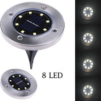 Wholesale garden lawn landscape - Edison2011 IP65 Waterproof 8 LED Solar Outdoor Ground Lamp Landscape Lawn Yard Stair Underground Buried Night Light Home Garden Decoration