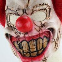 masque joyeux achat en gros de-Masque de fête de Halloween masque de jolly masque d'horreur couverture complète robe de fête de pâques barre de Noël partie prop masque de latex de silicone monstre