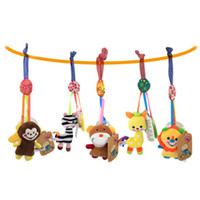 Wholesale teether rattle set - 1 Set Newborn Baby Rattles Mobiles Teether Animal Cute Bed Stroller Hanging Toys For 0-12 Months Fun Comfort Baby Classic Toys