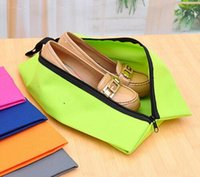 Wholesale silicone for clothing for sale - 2018 Travel Shoe Bags Storage bag For Shoes Waterproof Nylon With Zipper For Men Women Black Red Blue