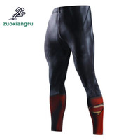 Wholesale tight clothes for men resale online - Zuoxiangru Mens Running Tights for Gym Trainning Fitness Long Pants Gym Clothing Bodybuilding Skinny Leggings Trousers for Men