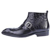 Wholesale vintage high top shoes - Vintage high top men boots genuine leather black wedding business designer male ankle boots for men shoes